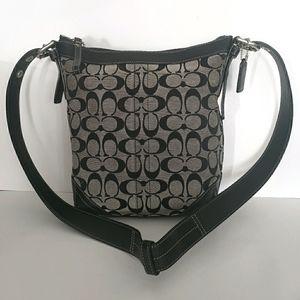 COACH Black Monogram Crossbody Bag